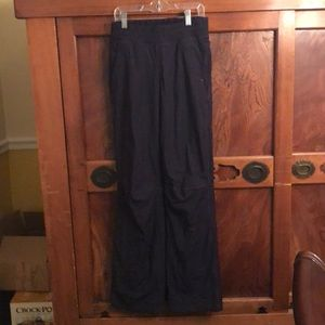 Lululemon navy lined track pant w/ pockets sz 2
